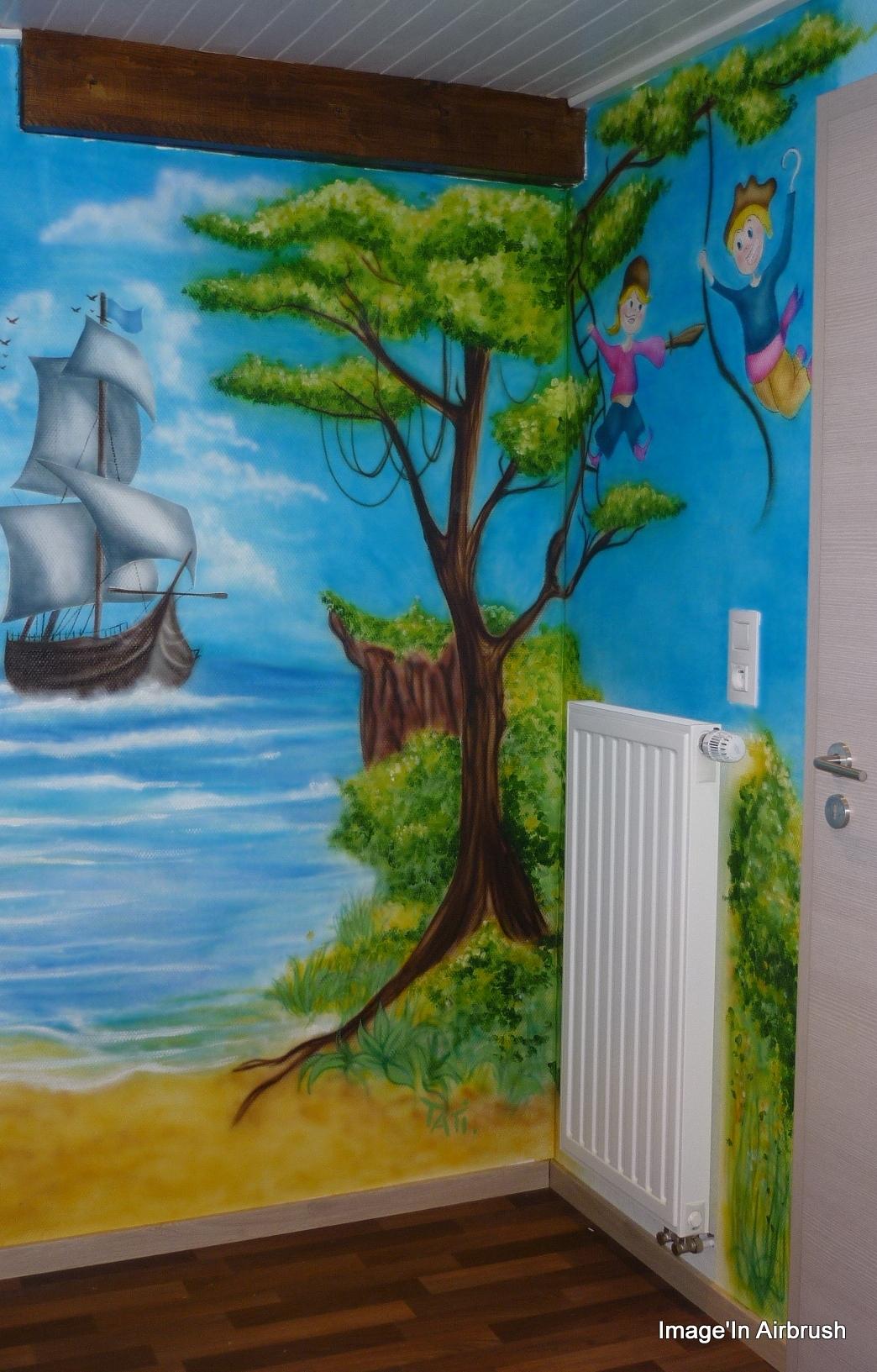 D cor mural chambre d enfant for Peinture chambre d enfant