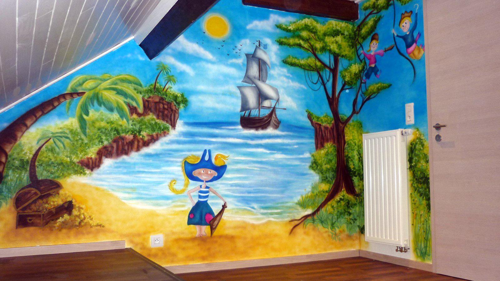 Chambre Garcon Theme Pirate : Décor mural chambre d enfant