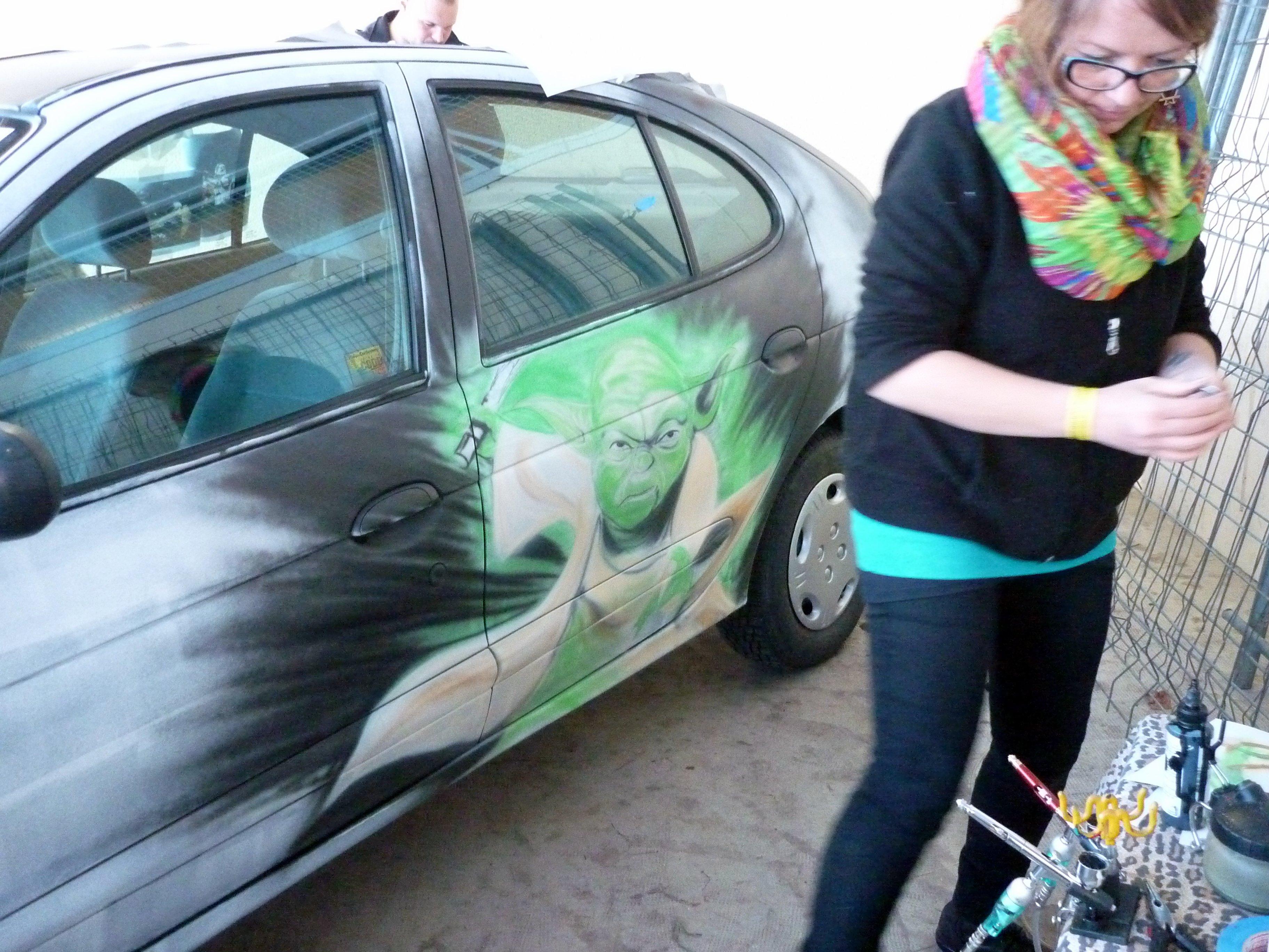Démo sur carrosserie au festival de Guénange