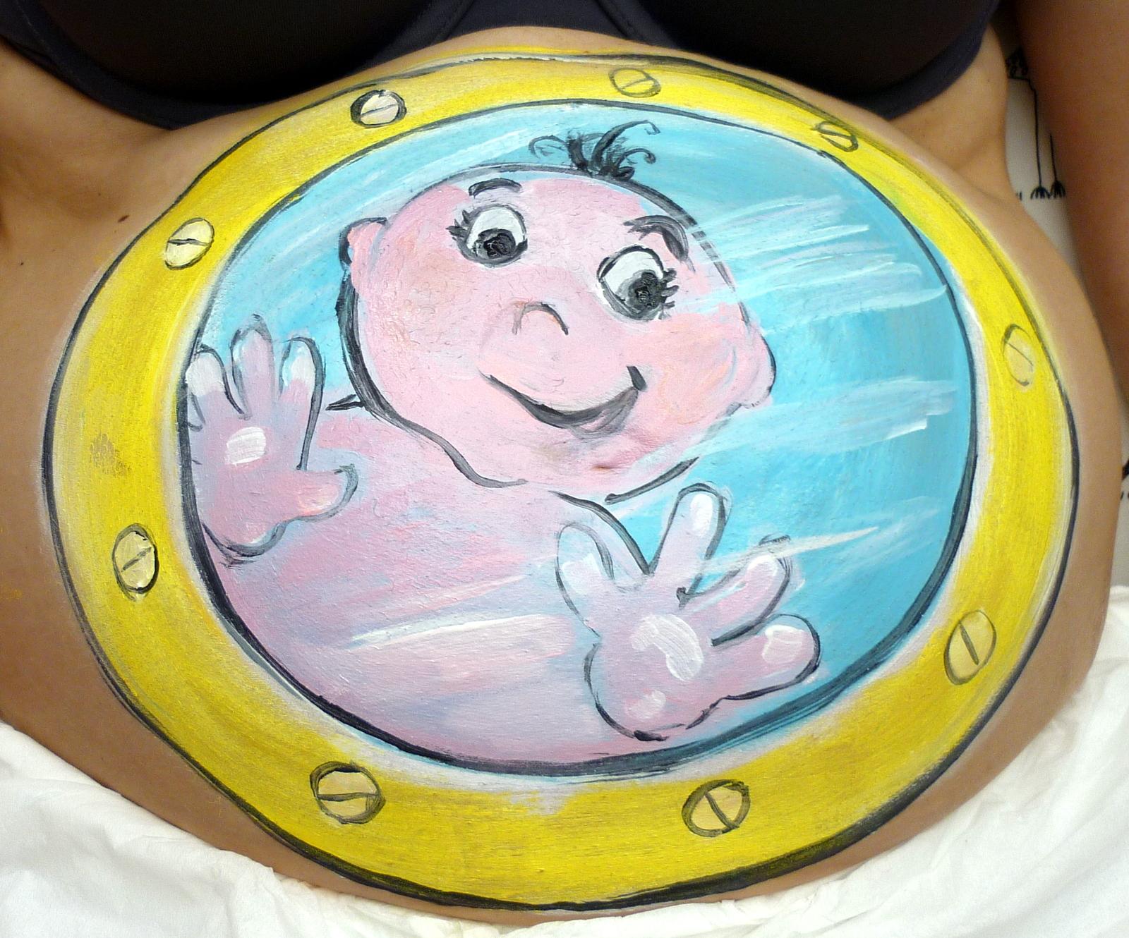 Body paint sur ventre femme enceinte «Belly paint»