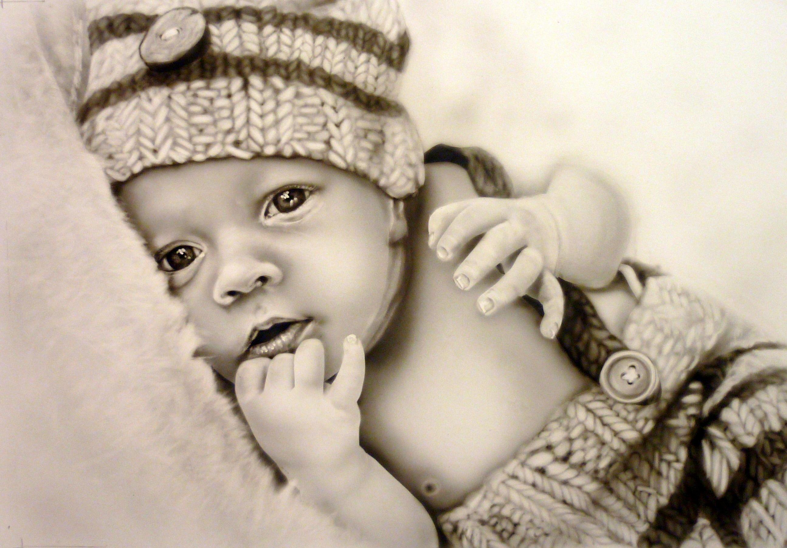 portrait de bébé d'après photo
