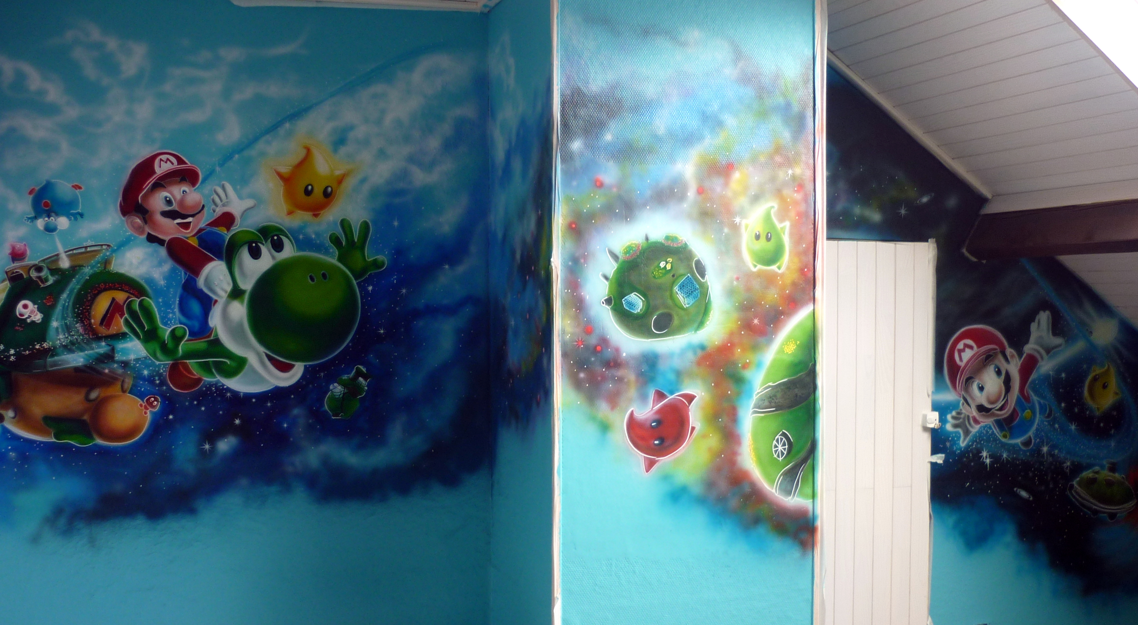 décor mural Mario Galaxy
