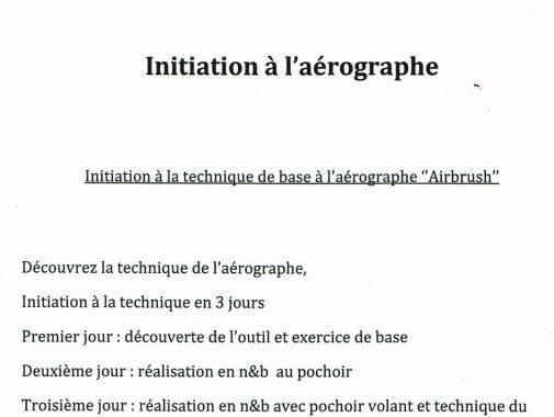 cours ,initiations à l'aérographe