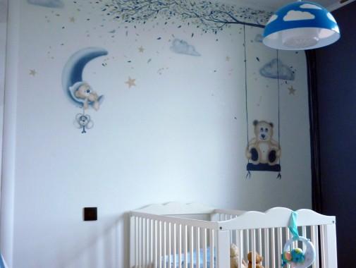 Décor mural chambre de bébé