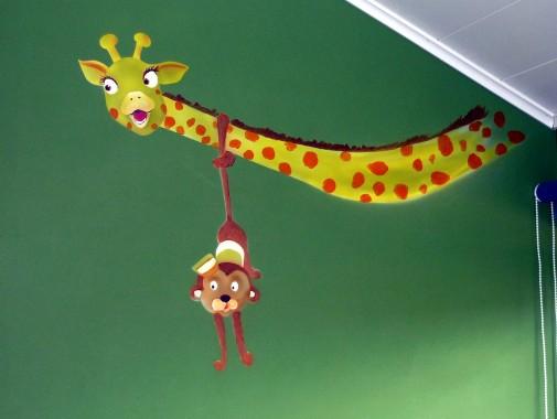 Fresque chambre de bébé animaux de cirque